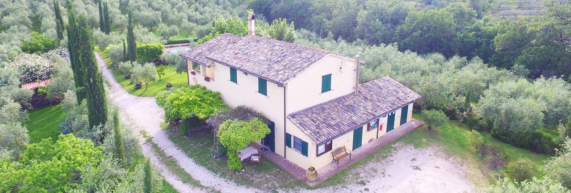 Agriturismo in Umbria - panorama dall'alto