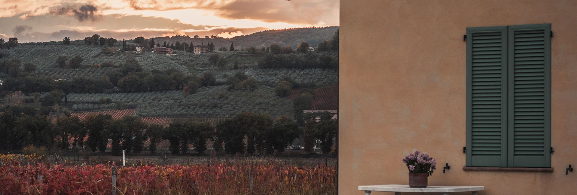 Agriturismo in Umbria - Panorama dall'agriturismo La Fonte di Bevagna