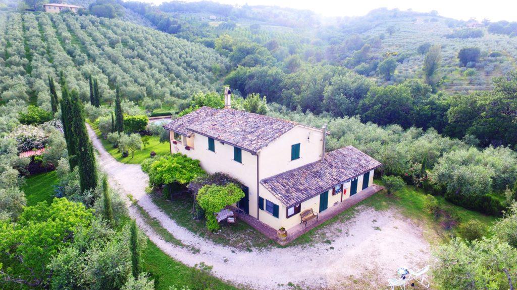 Agriturismo in Umbria - Vista dall'alto